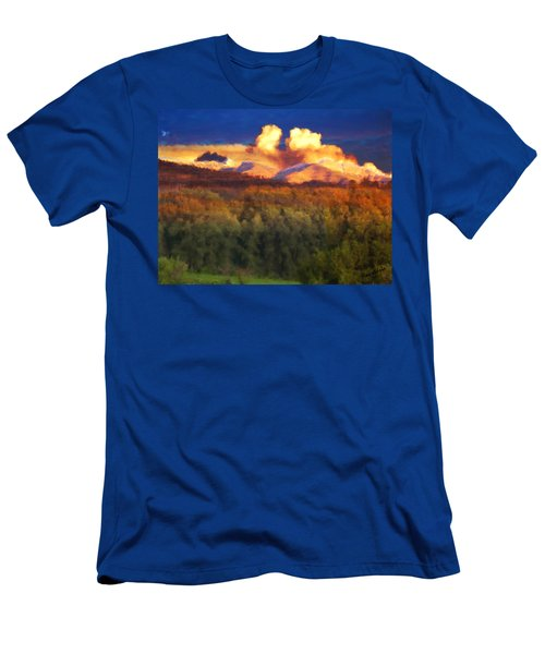 Milagro Cloud Theater Over Truchas Peaks Nm Men's T-Shirt (Athletic Fit)
