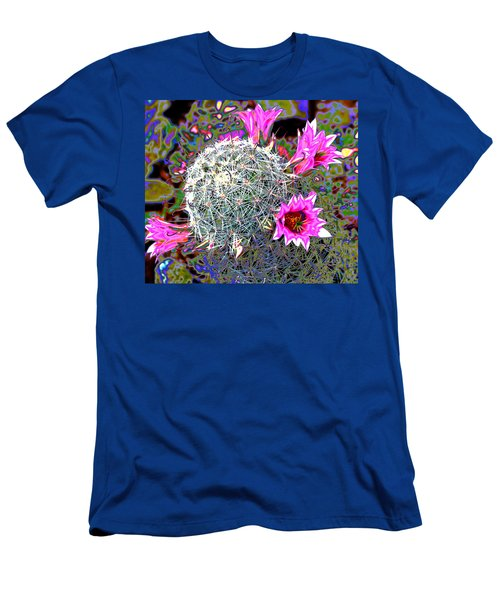 Men's T-Shirt (Slim Fit) featuring the photograph Mini Cactus by M Diane Bonaparte