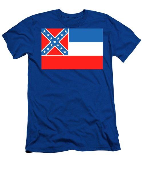 Mississippi State Flag Men's T-Shirt (Athletic Fit)