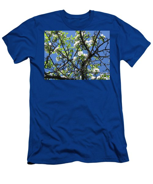 Mn Apple Blossoms Men's T-Shirt (Slim Fit) by Barbara Yearty