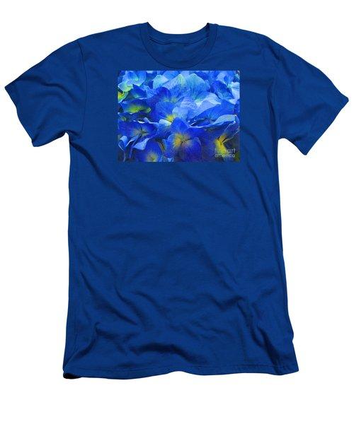 Men's T-Shirt (Slim Fit) featuring the photograph Modern Art - Floral In Blue by Merton Allen