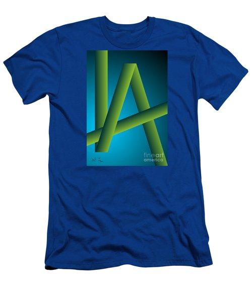 Men's T-Shirt (Slim Fit) featuring the digital art Modus by Leo Symon