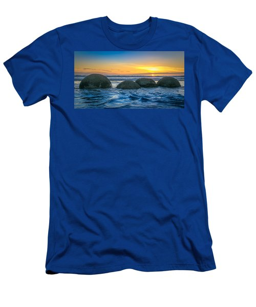Moeraki Sunrise Men's T-Shirt (Slim Fit) by Martin Capek