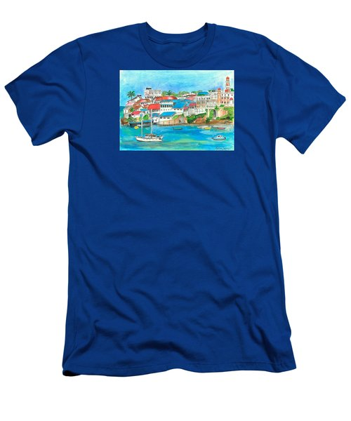 Mombasa Town Men's T-Shirt (Athletic Fit)