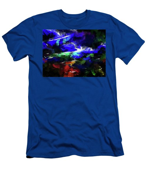 Moment In Blue Lazy River Men's T-Shirt (Athletic Fit)