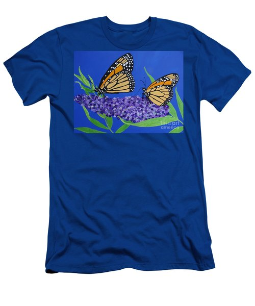 Monarch Butterflies On Buddleia Flower Men's T-Shirt (Athletic Fit)