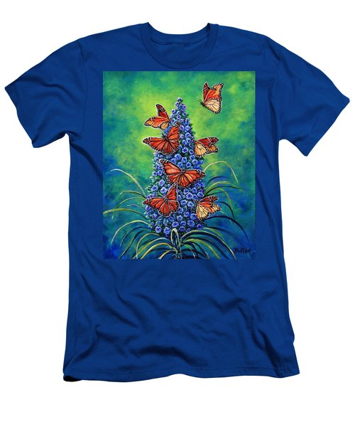 Monarch Waystation Men's T-Shirt (Slim Fit) by Gail Butler