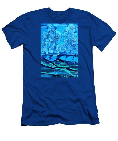 Men's T-Shirt (Slim Fit) featuring the painting Monsoon Desert Storms IIi by Carolina Liechtenstein