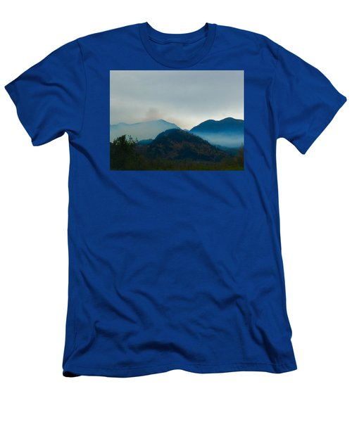 Montana Mountains Men's T-Shirt (Slim Fit) by Suzanne Lorenz