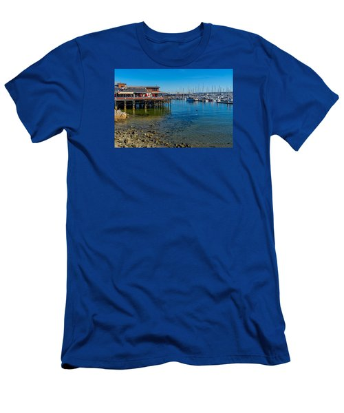 Monterey Harbor Morning Men's T-Shirt (Athletic Fit)