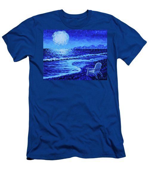 Moon Beach Men's T-Shirt (Athletic Fit)