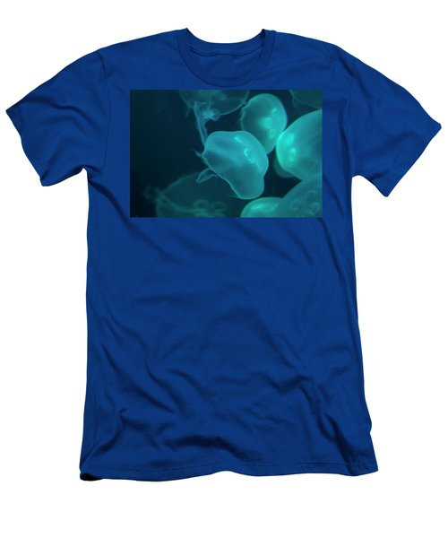 Men's T-Shirt (Athletic Fit) featuring the photograph Moon Jellyfish 02 by Chris Flees