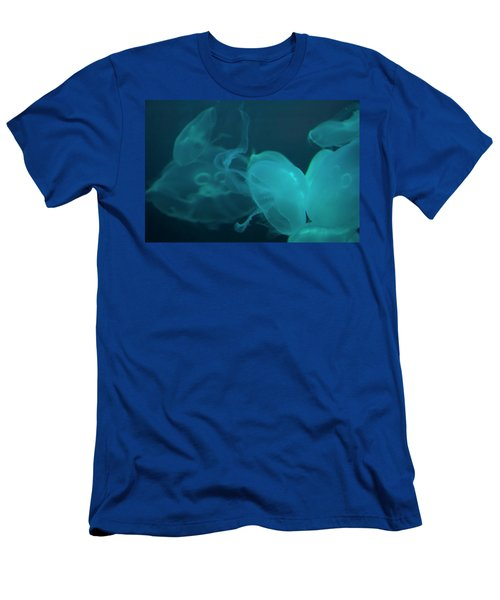 Men's T-Shirt (Athletic Fit) featuring the photograph Moon Jellyfish 3 by Chris Flees