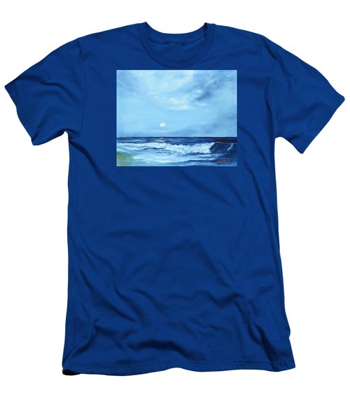 Moon Light Night Wave Men's T-Shirt (Athletic Fit)