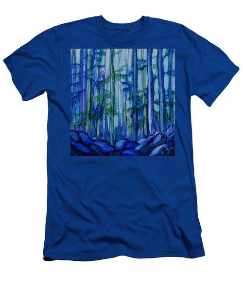 Moonlit Forest Men's T-Shirt (Slim Fit) by Joanne Smoley