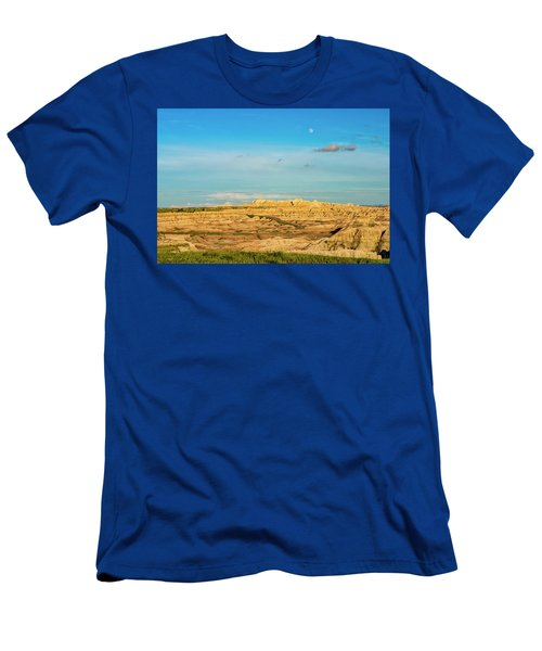 Moon Over The Badlands Men's T-Shirt (Athletic Fit)
