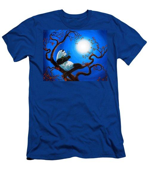Moonlit Snack Men's T-Shirt (Slim Fit) by Laura Iverson
