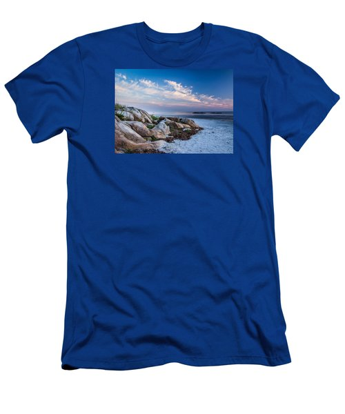Morning At The Beach Men's T-Shirt (Slim Fit) by Tim Kirchoff