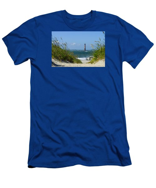 Morris Island Lighthouse Walkway Men's T-Shirt (Athletic Fit)