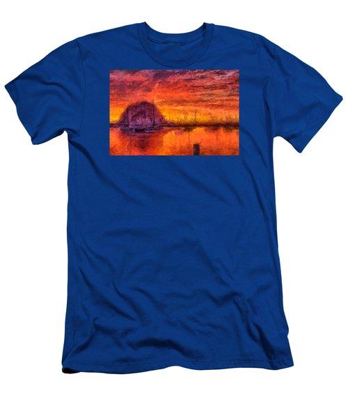Morro Bay Marina Men's T-Shirt (Athletic Fit)