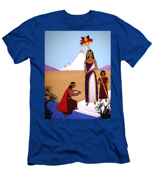 Men's T-Shirt (Slim Fit) featuring the painting Moses In The Bullrushes by Stephanie Moore
