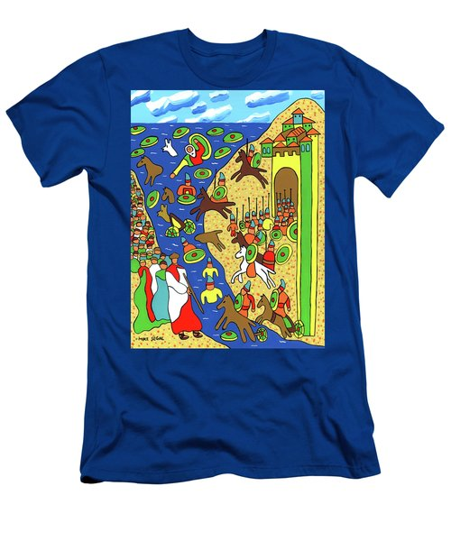 Moses Parting The Red Sea Men's T-Shirt (Athletic Fit)