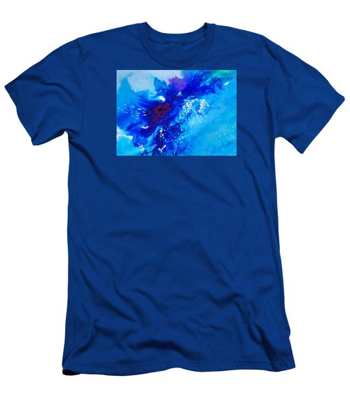 Men's T-Shirt (Slim Fit) featuring the painting Motu Arutua by Ed  Heaton