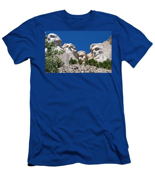 Mount Rushmore Close Up View Men's T-Shirt (Athletic Fit)