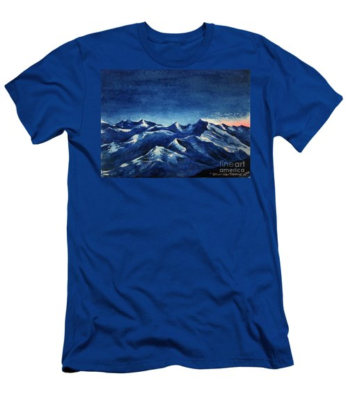 Mountain-4 Men's T-Shirt (Athletic Fit)