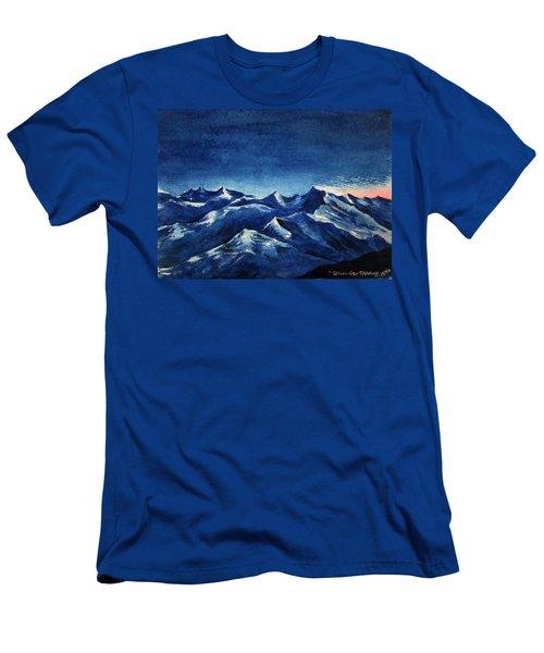 Mountain-4 Men's T-Shirt (Athletic Fit)
