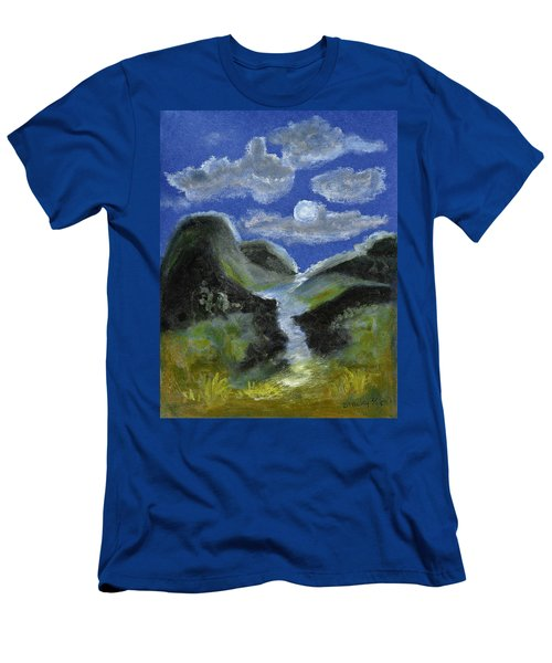 Mountain Spring In The Moonlight Men's T-Shirt (Athletic Fit)
