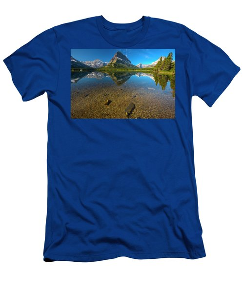 Men's T-Shirt (Athletic Fit) featuring the photograph Mt. Grinnell by Gary Lengyel