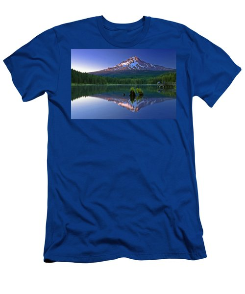 Mt. Hood Reflection At Sunset Men's T-Shirt (Athletic Fit)