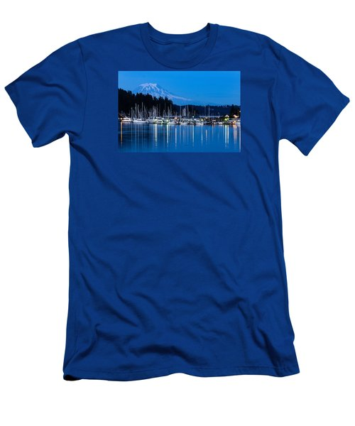 Mt. Rainier From Gig Harbor Men's T-Shirt (Athletic Fit)