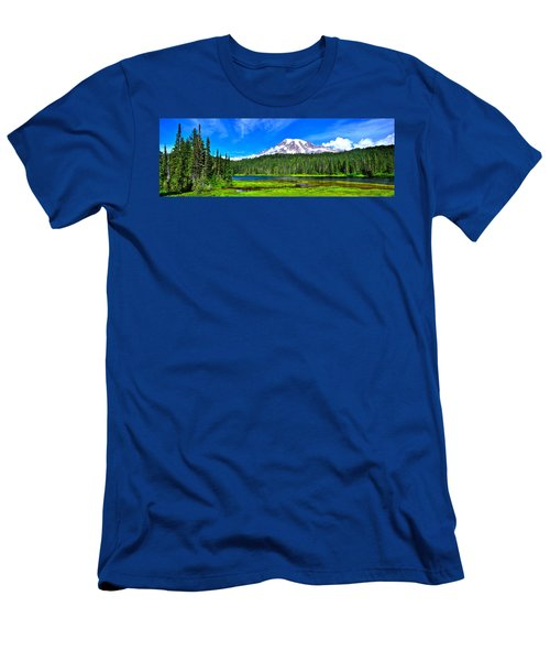 Mt. Rainier From Reflection Lakes Men's T-Shirt (Athletic Fit)