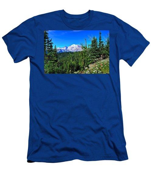Mt. Rainier Wildflowers Men's T-Shirt (Athletic Fit)