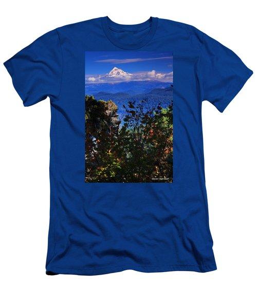 Mt.hood N Fall Men's T-Shirt (Slim Fit) by Steve Warnstaff