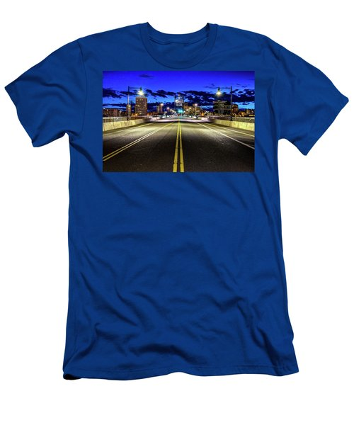 Murray Morgam Bridge During Blue Hour In Hdr Men's T-Shirt (Athletic Fit)