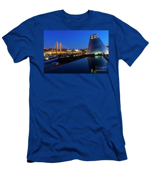Museum Of Glass At Blue Hour Men's T-Shirt (Athletic Fit)