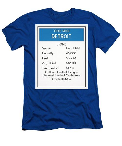 My Nfl Detroit Lions Monopoly Card Men's T-Shirt (Athletic Fit)
