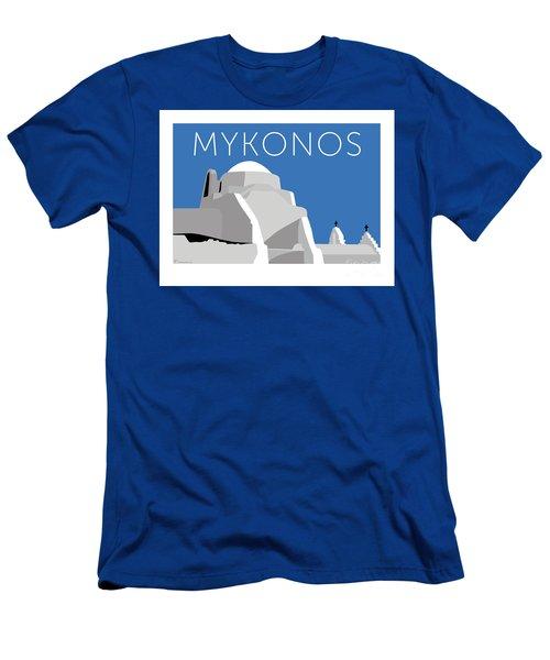 Mykonos Paraportiani - Blue Men's T-Shirt (Athletic Fit)