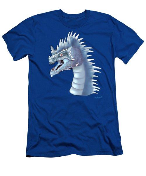 Mystical Ice Dragon Men's T-Shirt (Slim Fit) by Glenn Holbrook