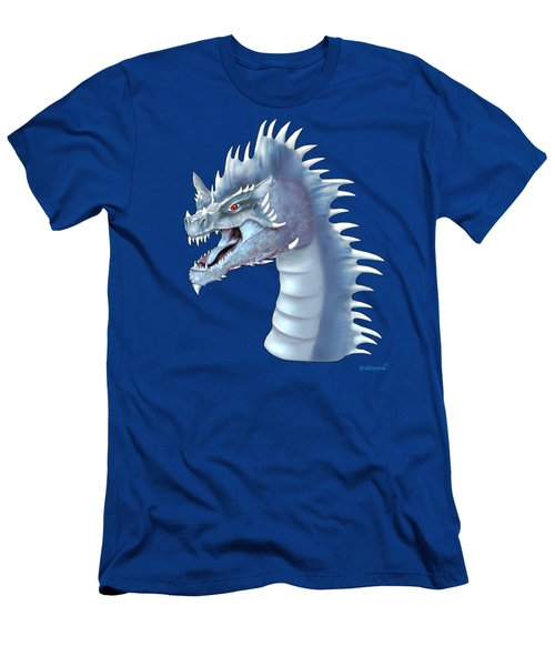 Mystical Ice Dragon Men's T-Shirt (Athletic Fit)