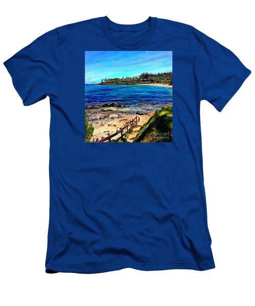 Napili Beach Gazebo Walkway Shower Curtain Size Men's T-Shirt (Athletic Fit)