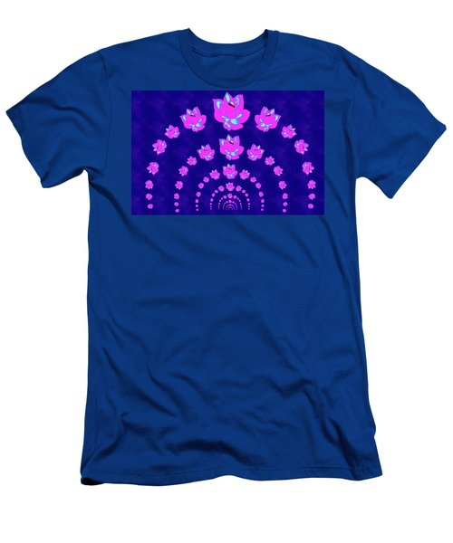 Neon Pink Lotus Arch Men's T-Shirt (Slim Fit) by Samantha Thome