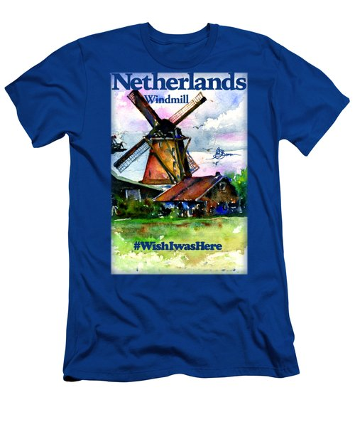 Netherlands Windmill Shirt Men's T-Shirt (Athletic Fit)