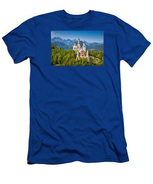 Neuschwanstein Fairytale Castle Men's T-Shirt (Athletic Fit)