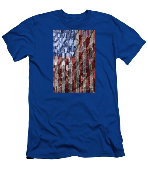 Men's T-Shirt (Slim Fit) featuring the photograph Never Forget American Sacrifice by DJ Florek