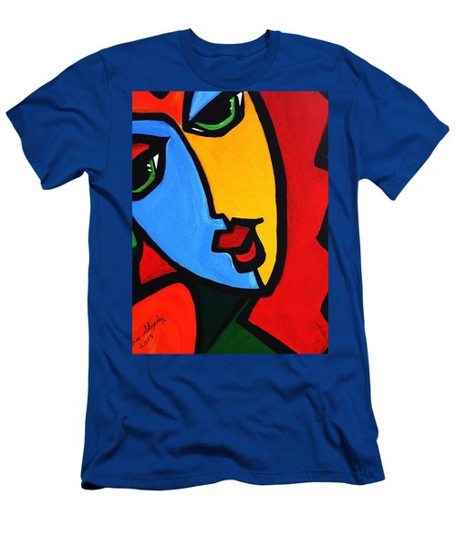 New  Abstract   Miss Tulip Men's T-Shirt (Athletic Fit)