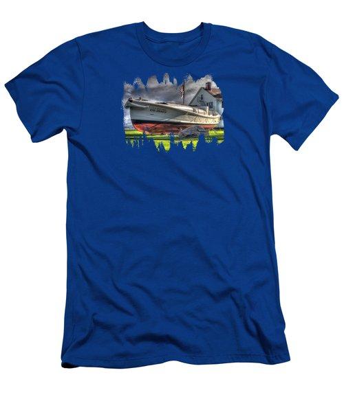 Newport Coast Guard Station Men's T-Shirt (Athletic Fit)